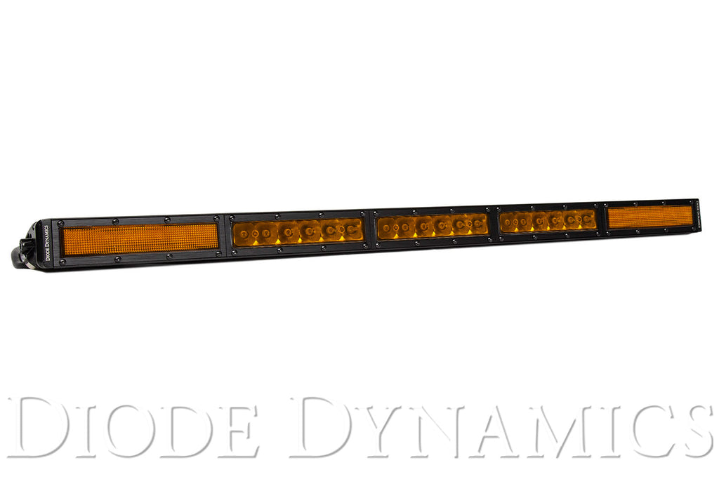 30 Inch LED Light Bar  Single Row Straight Amber Combo Each Stage Series