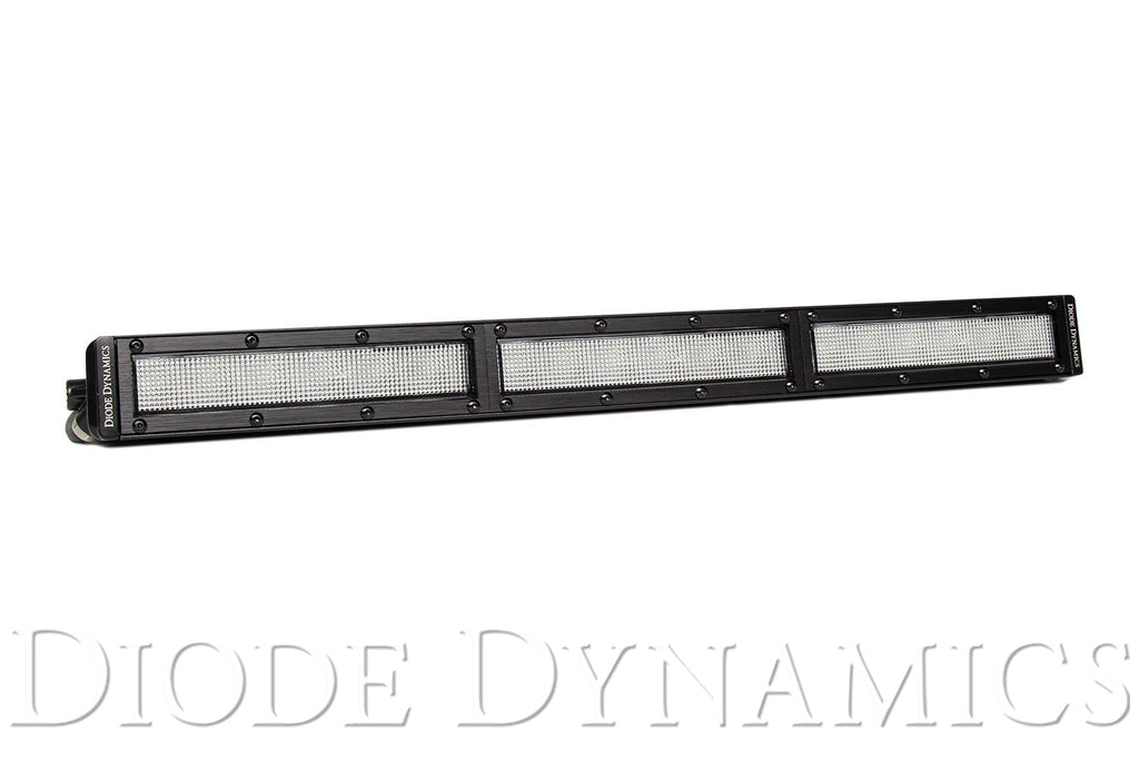 18 Inch LED Light Bar  Single Row Straight Clear Flood Each Stage Series
