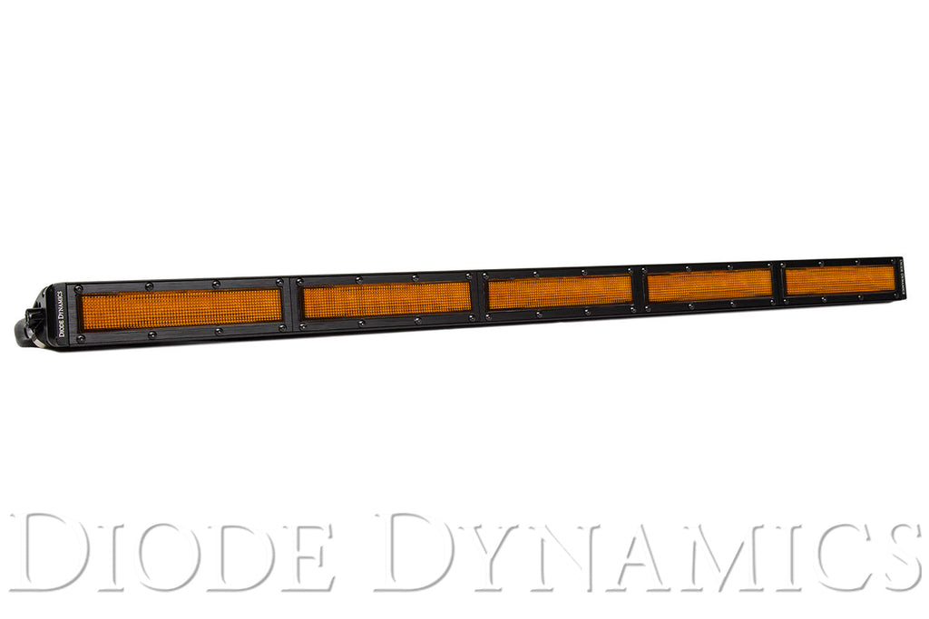30 Inch LED Light Bar  Single Row Straight Amber Flood Each Stage Series