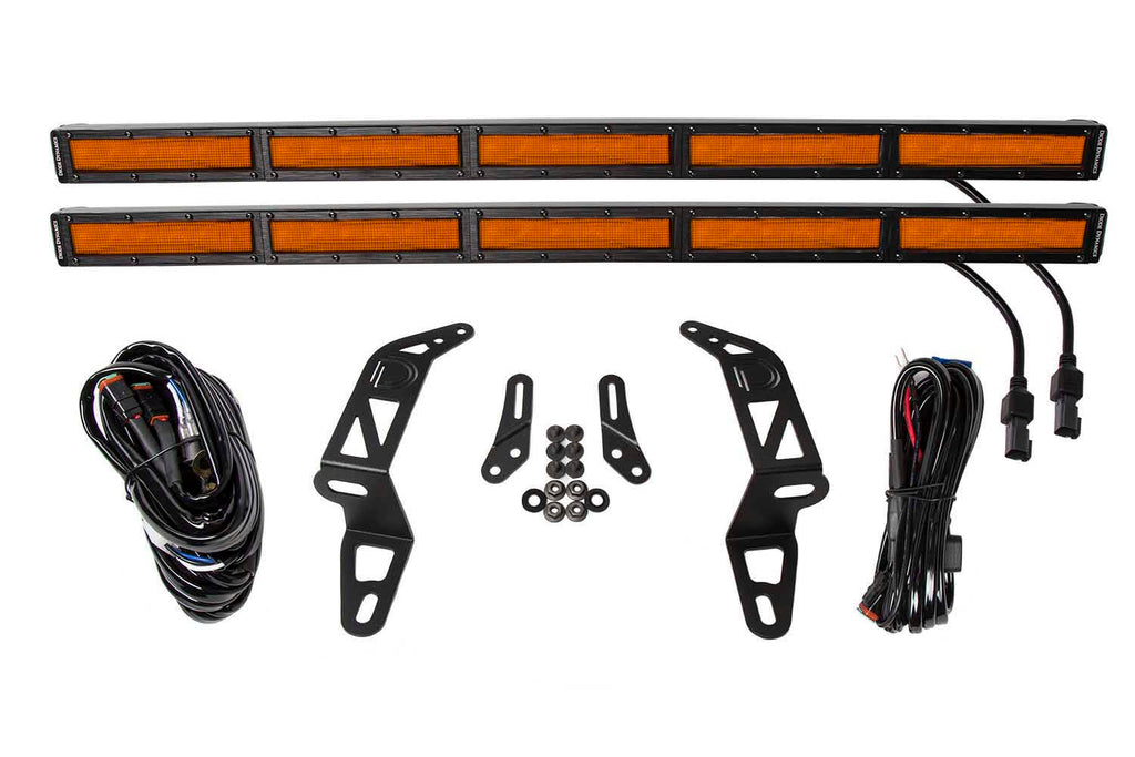 Jeep 2018 SS30 Bumper LED Kit Amber Flood Dual