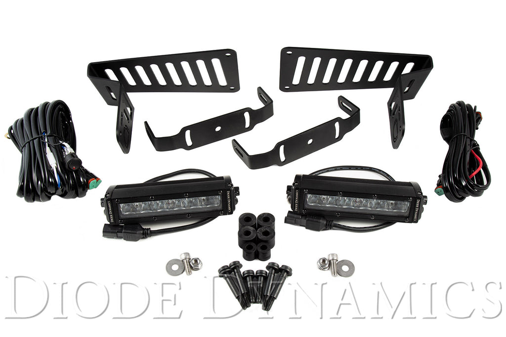 Jeep JL 2018-2019 Stage Series 6 Inch Cowl LED Kit White Driving