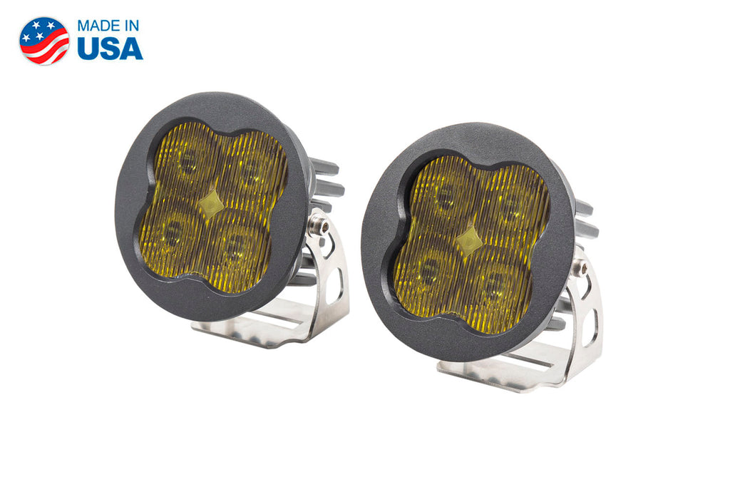 Worklight SS3 Sport Yellow SAE Fog Round Pair