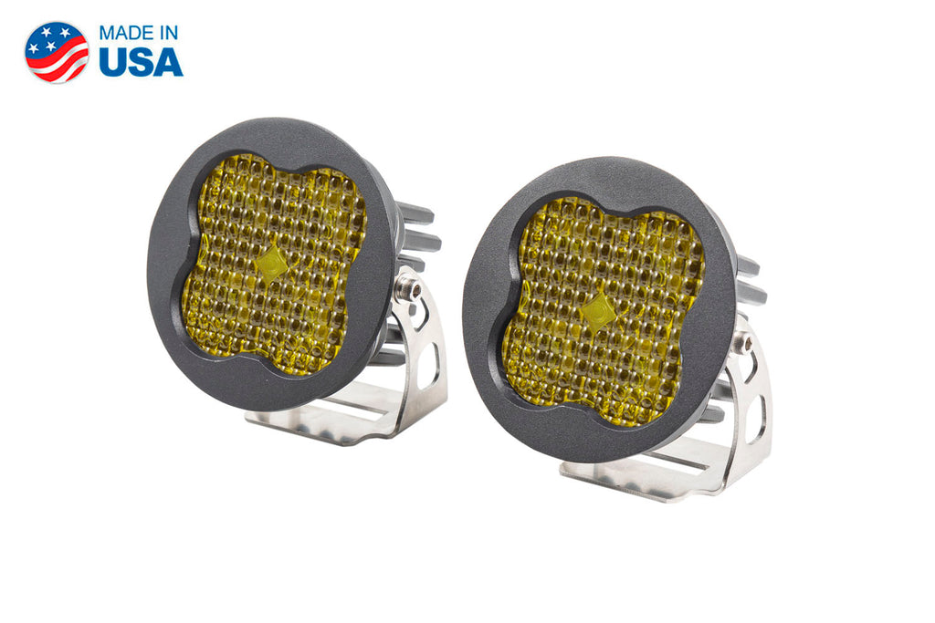Worklight SS3 Pro Yellow Flood Round Pair