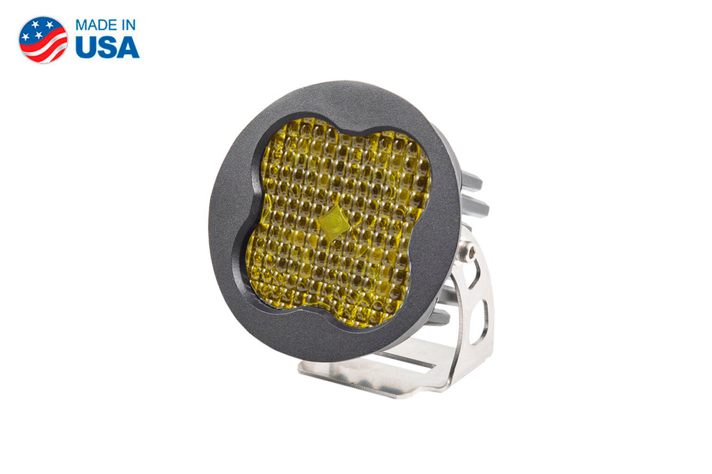 Worklight SS3 Pro Yellow Flood Round Single
