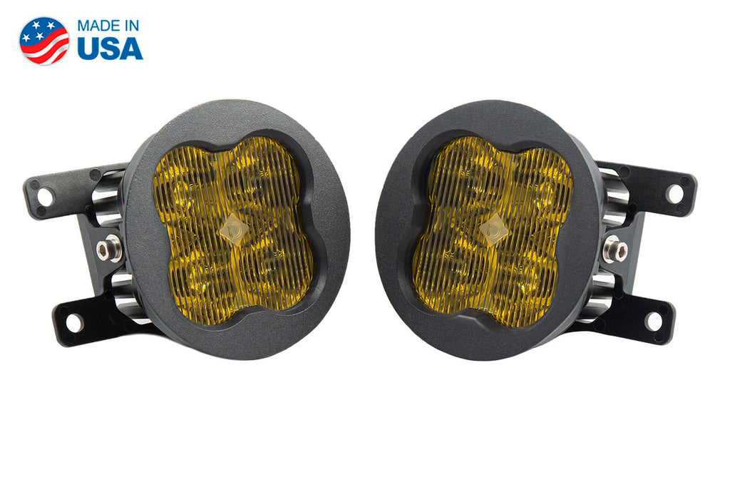 SS3 LED Fog Light Kit for 2015-2017 Ford Mustang Yellow SAE/DOT Fog Sport