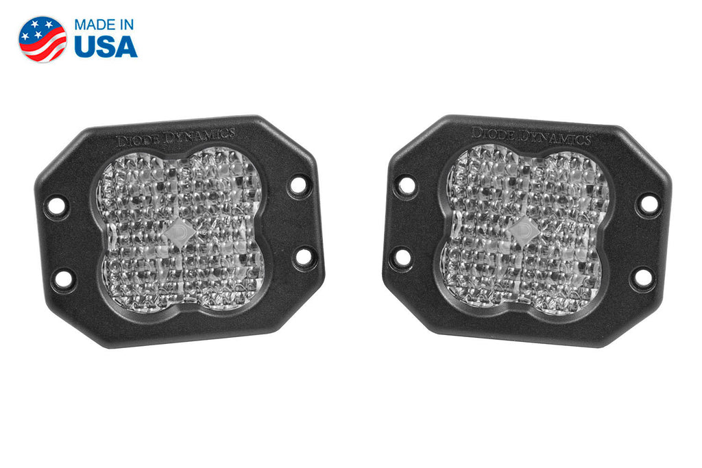 Worklight SS3 Sport White Flood Flush Pair
