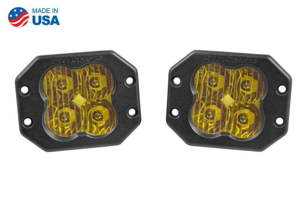 Worklight SS3 Sport Yellow Driving Flush Pair