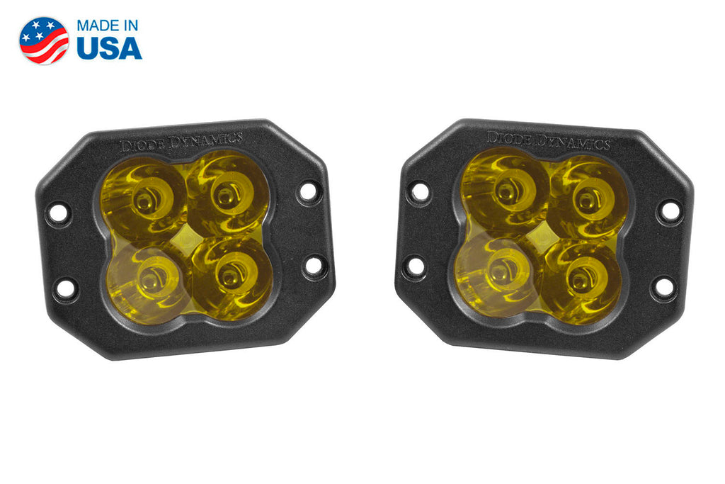 Worklight SS3 Sport Yellow Spot Flush Pair