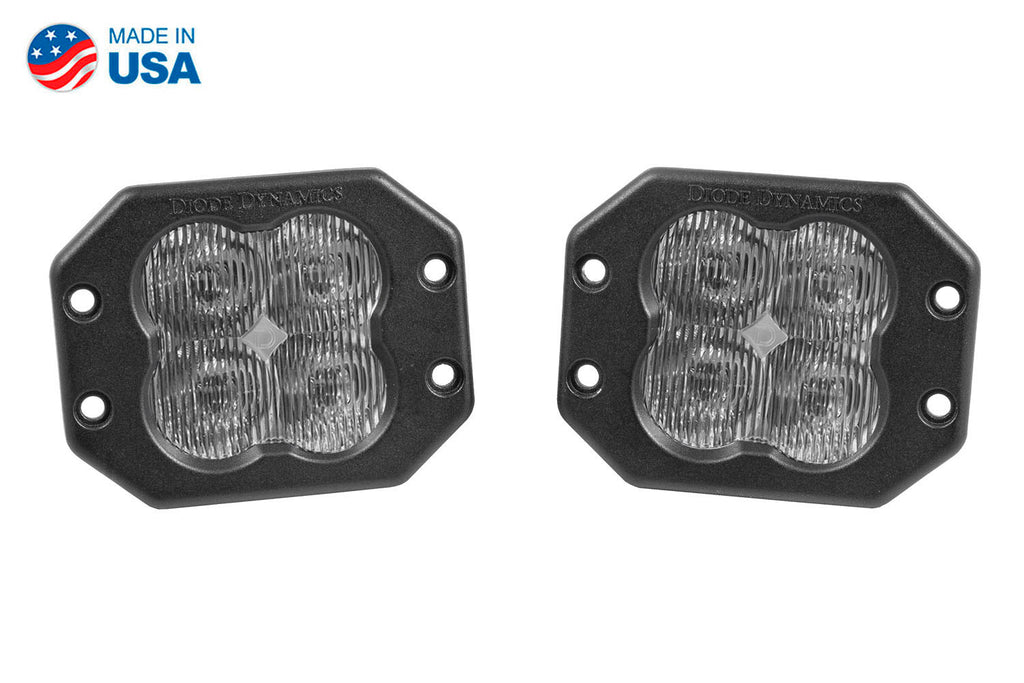 Worklight SS3 Pro White SAE Fog Flush Pair