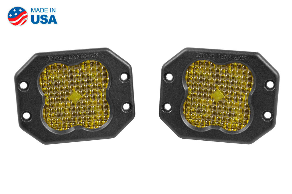 Worklight SS3 Pro Yellow Flood Flush Pair