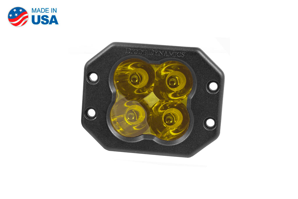 Worklight SS3 Pro Yellow Spot Flush Single