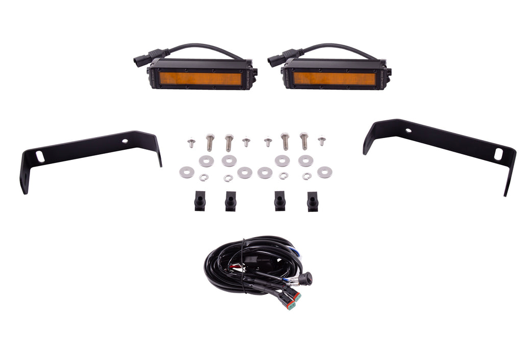 SS6 LED Lightbar Kit for 2019-2021 Ford Ranger, Amber Wide