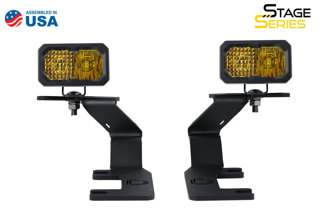 Stage Series 2in LED Ditch Light Kit for 2015-2021 GMC Canyon, Sport Yellow Combo