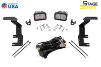 Stage Series 2 Inch LED Ditch Light Kit for 15-20 Chevrolet Colorado Pro White Combo Diode Dynamics