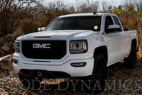 SS3 LED Ditch Light Kit for 2014-2019 GMC Sierra 1500, Pro White Driving Diode Dynamics