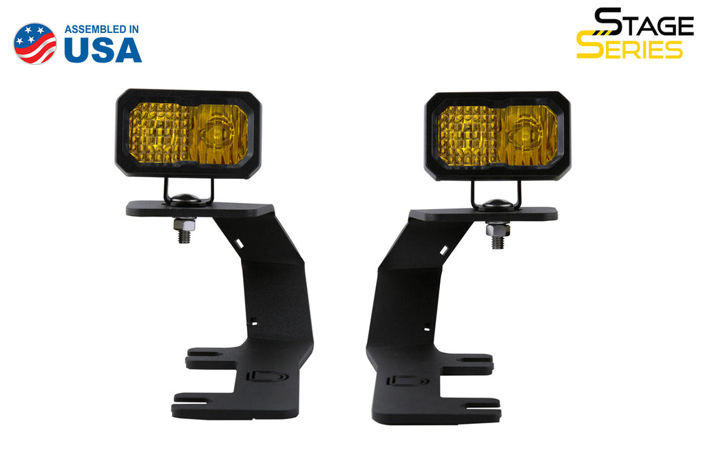 SSC2 LED Ditch Light Kit for 2014-2019 Silverado/Sierra, Sport Yellow Combo Diode Dynamics