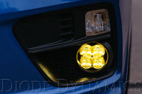 SS3 LED Fog Light Kit for 2013-2015 Honda Civic Si Sedan Yellow SAE/DOT Fog Max Diode Dynamics