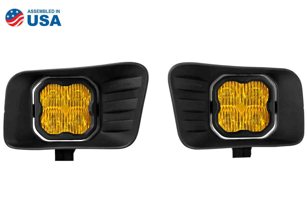 SS3 LED Fog Light Kit for 10-18 Ram 2500/3500 Yellow SAE/DOT Fog Max Diode Dynamics