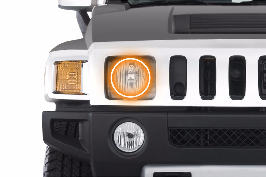 2006-2010 Hummer H3 Profile Prism Fitted Halos (RGB)