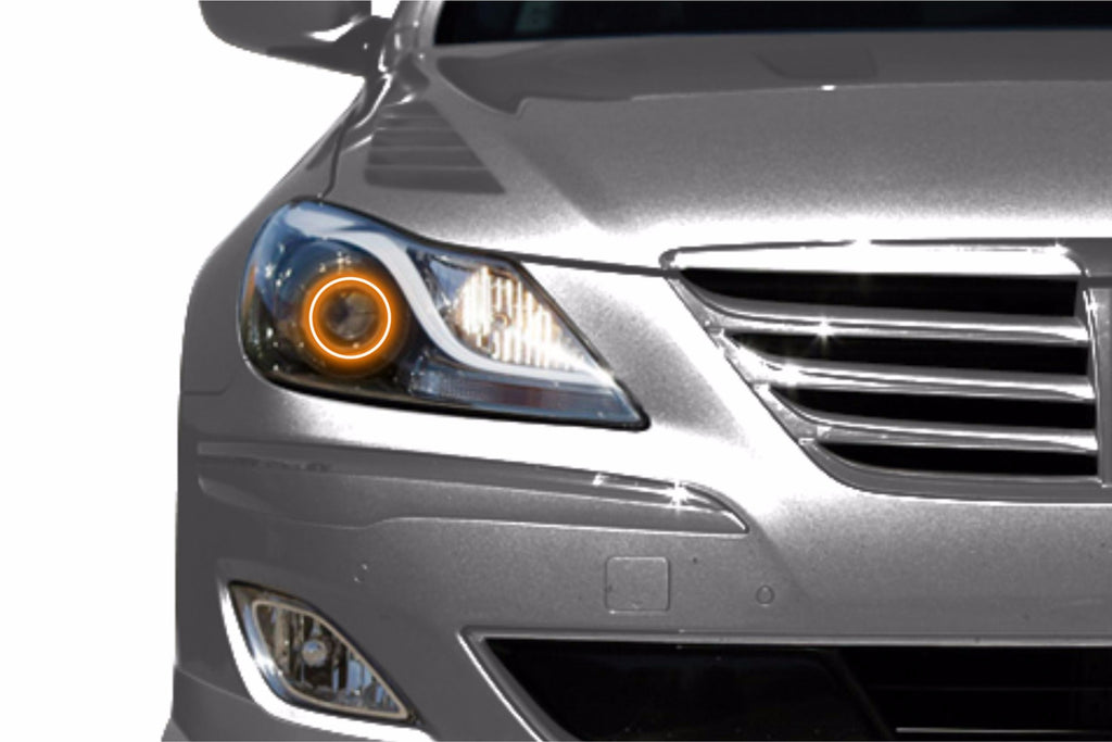 2009-2011 Hyundai Genesis Sedan Profile Prism Fitted Halos (RGB)