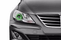 2012-2014 Hyundai Genesis Sedan Profile Prism Fitted Halos (RGB)
