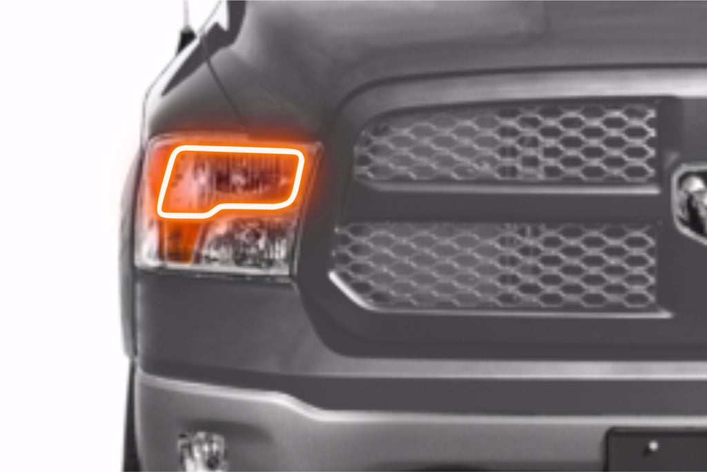 Dodge Ram w/ Quad Headlights (09-16): Profile Prism Fitted Halos (Kit)