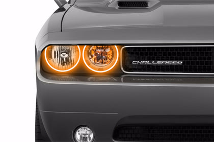 Dodge Challenger w/o OEM HID (08-14): Profile Prism Fitted Halos (Kit)