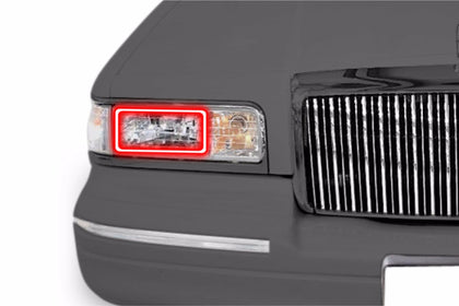 Lincoln Town Car (95-97): Profile Prism Fitted Halos (Kit)
