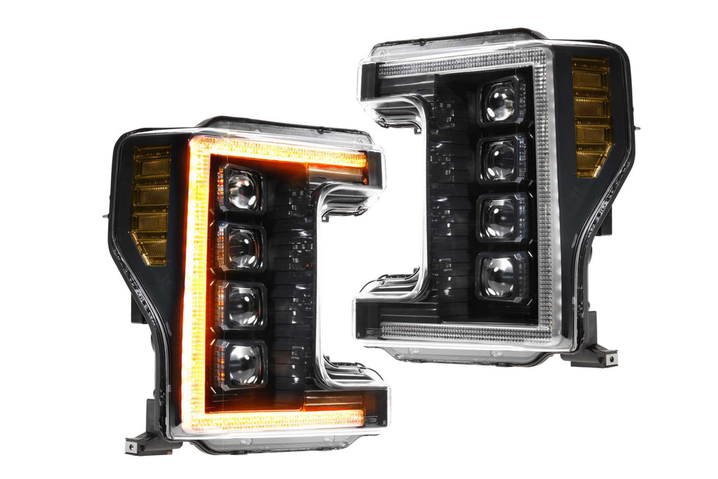 XB LED Heads: Ford   Super Duty (17-19) (Pair / ASM / Amber DRL)