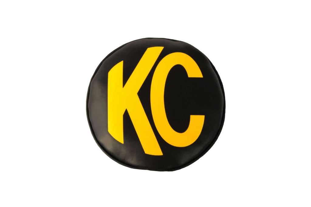 KC Hilites Light Cover: (8in / Soft / Black/White KC Logo / Pair)