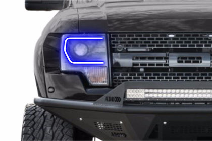 Ford F150 w/ OEM HID (13-14): Profile Prism Fitted Halos (Kit)