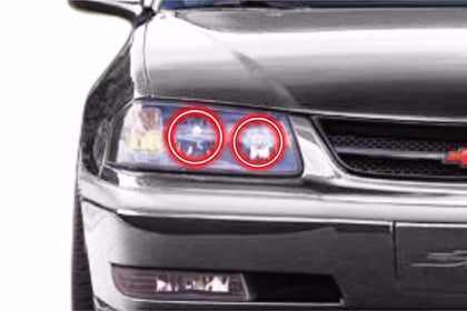 Chevrolet Impala (00-05): Profile Prism Fitted Halos (Kit)