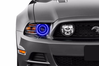 Ford Mustang w/ OEM HID (10-14): Profile Prism Fitted Halos (Kit)