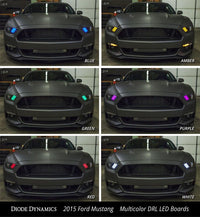 2015-2016 Ford Mustang RGBWA DRL LED Boards (USDM)