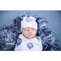Load image into Gallery viewer, Cloud Chaser I Snuggle Swaddle & Beanie Set