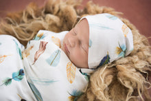 Load image into Gallery viewer, Dreamweaver I Baby Jersey Wrap & Beanie Set