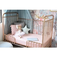 Load image into Gallery viewer, Lullaby Pink I Fitted Cot Sheet