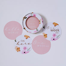 Load image into Gallery viewer, Poppy & Musk Pink Reversible Milestone Cards