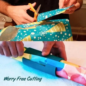 (Christmas Sale- Save 50% OFF) Sliding Wrapping Paper Cutter