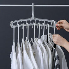 Load image into Gallery viewer, 9 Holes Clothes Hanger
