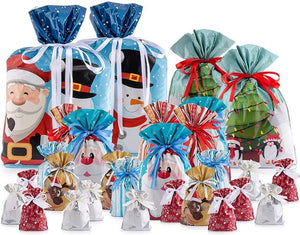 Easy Tie Christmas Gift Bags