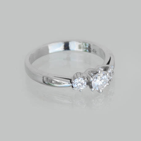 Camila Three-Stone Diamond Wedding Ring