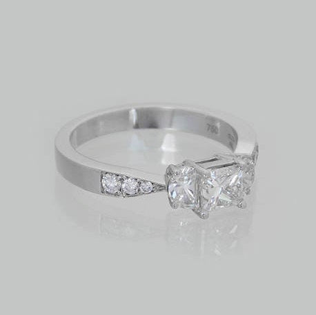 Ayala Three-Stone Diamonds Wedding Ring
