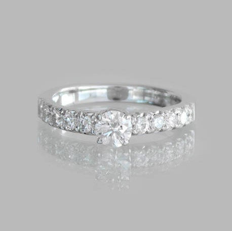 Lilah Engagement Gold Diamond Ring