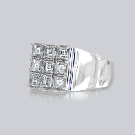 Andrea Signet Pave Diamond Ring