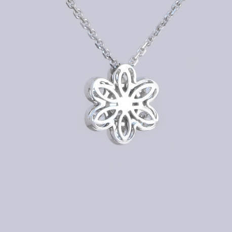 Lisa Flower Diamond Pendant