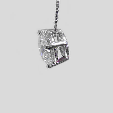 Stacy Gold Diamond Solitaire Pendant