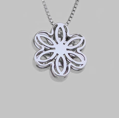 Ruth Flower Diamond Pendant