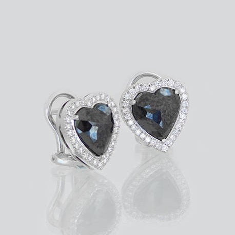 Emma Heart Shaped Diamond Earrings