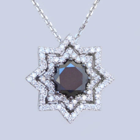 Jasmine Diamond Gold Star Pendant